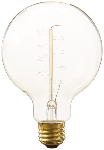 Heirlume Hl-7425Wpack1 Vintage Edison Bulb 25-Watt With Medium Base And Globe Shape, 3.7-Inch X 5.4-Inch, 1-Pack