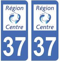 2-autocollants-37-Indre-et-loire-plaque-immatriculation-dpartement-auto-37-angles-arrondis