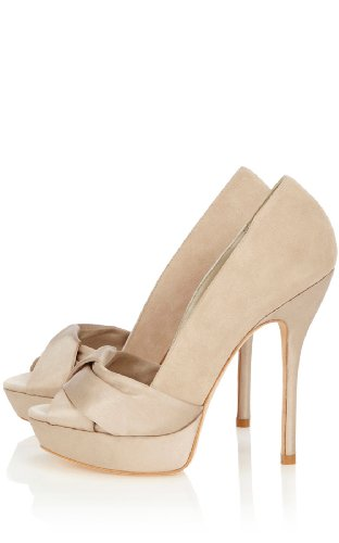 Satin and Suede Peep Toe