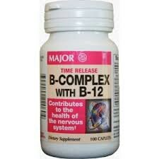 [3 Pack] Major Pharmaceuticals Vitamin B-Complex With B-12 100Ct Tablets