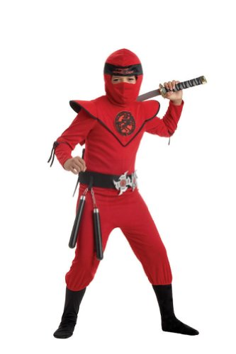 Child Awesome Red Ninja Master Costume