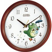 Totoro wood frame wall clocks