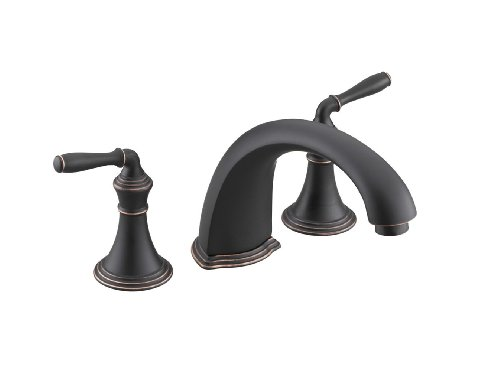Cheap Kohler K T398 4 Brz Devonshire Deck Rim Mount High Flow Bath Faucet Trim Oil Rubbed