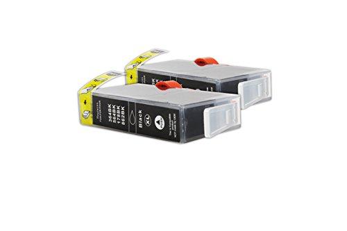 Kompatibel für HP OfficeJet 4620 Tintenpatronen Sparset CN684EE / Nr 364XL schwarz / 2 x 20 ml