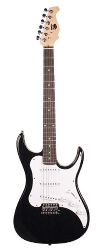 Axl Headliner Double Cutaway Electric Guitar, Black