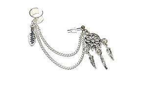 Dream Catcher Chain Ear Cuff Handmade