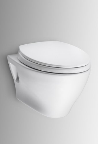 Toto Ct418Fg Aquia Wall-Hung Dual-Flush Toilet With Sanagloss, Cotton White
