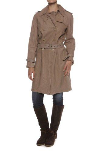 Mansharey Leather Coat MIA, Color: Khaki, Size: XL
