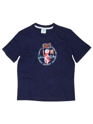 Olympic boys mascot t-shirt Navy AGE 8