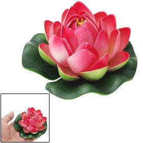Floating Foam Red Lotus Flower Fish Tank Decoration Ornament