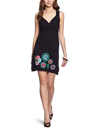 desigual robe femme noir xl v tements et accessoires. Black Bedroom Furniture Sets. Home Design Ideas