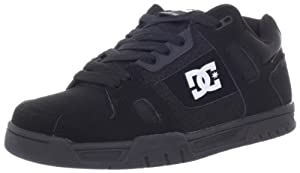 DC Men's Stag Sneaker,Pirate Black/White,9 M US