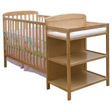 Dream On Me - 2-In-1 Full-Size Crib And Changing Table Combo, Natural