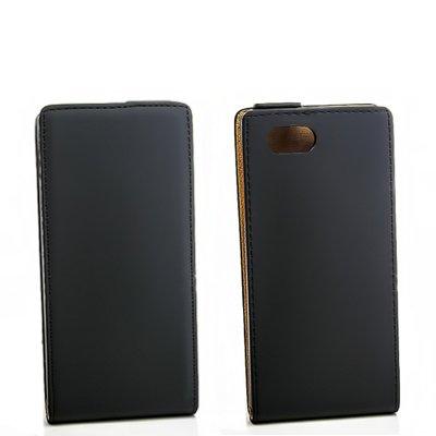Flip-Case Handy Klapp Tasche Sony Xperia J (ST26i) Schwarz Case Handytasche Etui Cover Schutz Hülle Bag NEU