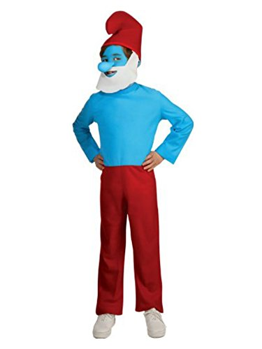 The Smurfs Boys Papa Smurf Costume with Makeup & Nose