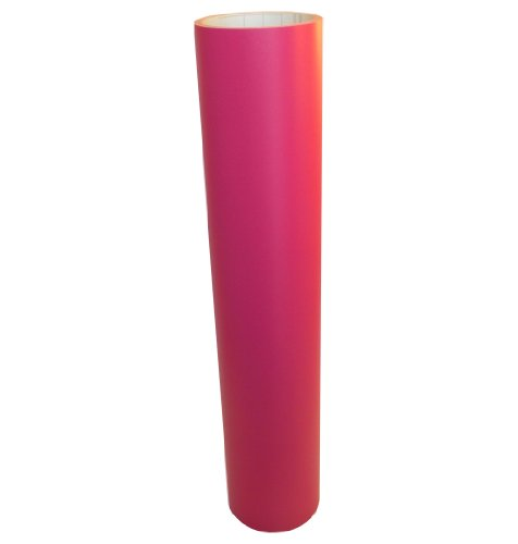 Vinyl Oasis Craft & Hobby Vinyl - Matte Hot Pink W/ Removable Adhesive - 12 In. X 10 Ft. Roll front-413199