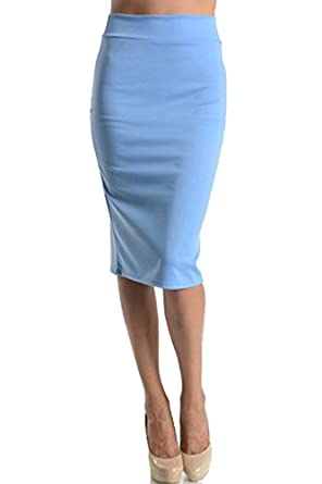 s below the knee pencil skirt for office wear made