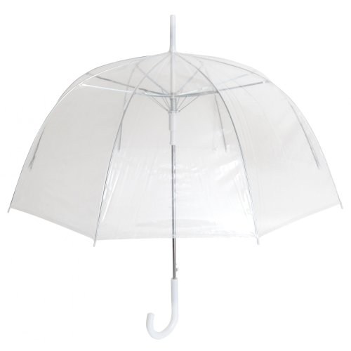 Ladies/Womens Plain Transparent Dome Automatic Umbrella