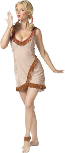 Native American Indian Female Tribal Tease Adult Costume Size 14-16 Large
