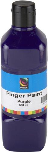 Omega Finger Paint, 500ml, Purple - 1