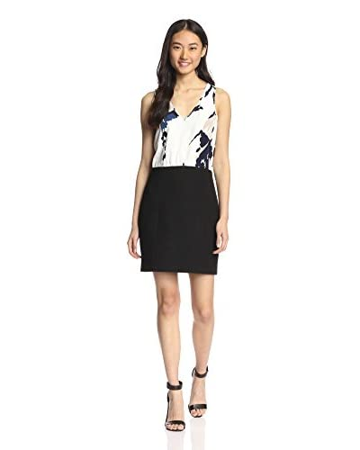 4.collective Women's Colorblock Floral V-Neck Dress