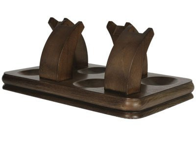 Tobacco Pipe Stand Furniture Walnut Finish with 4 Pipe Stand