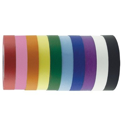 31DnNCQeKLL girl games: 1&quot; x 60 Yards 10 Pack of Assorted Color Kraft Tape Rolls