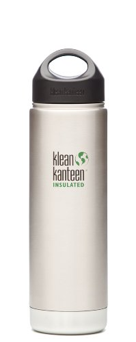 Klean Kanteen Wide Mouth Insulated Water Bottle with Loop Cap