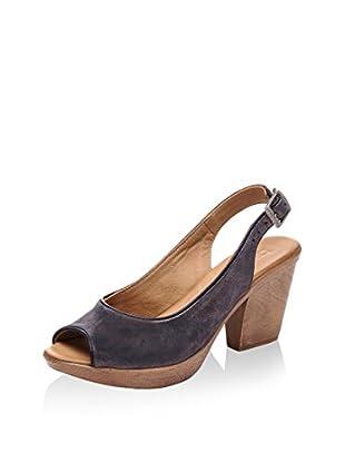 Bueno Zapatos de talón abierto (Azul Marino)