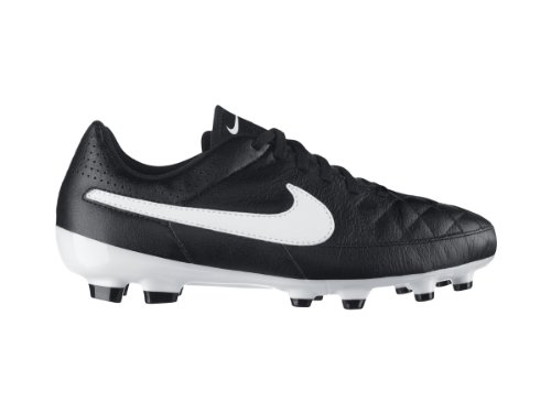Kid's Nike 'Junior Tiempo Genio' Leather Soccer Cleat Black/