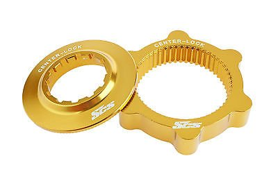 SCS-Montage-Centerlock-Bike-Disk-Brake-Rotor-Adapter-for-Shimano/1pair/46g/Gold