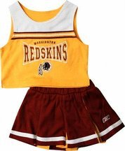 Reebok Two Piece Washington Redskins NFL Cheerleader Uniform Set (Size 4 to 6X)