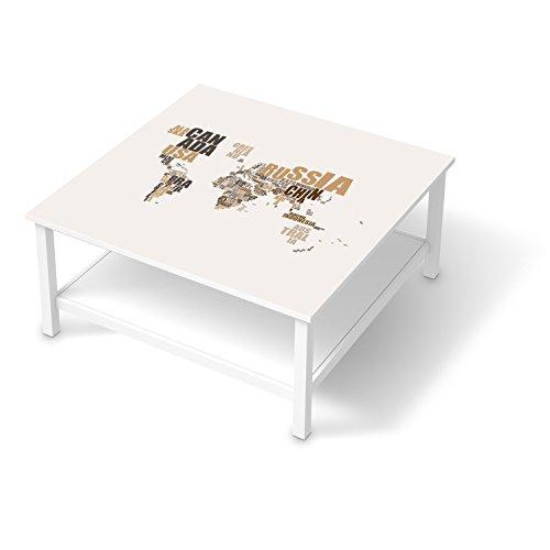 bedruckte klebe folie f r ikea hemnes couchtisch 90x90 cm m bel umgestalten m belsticker m bel. Black Bedroom Furniture Sets. Home Design Ideas