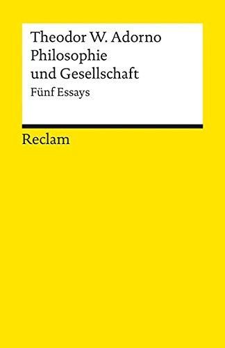 "adorno essay Adorno's original text, ""der essay als form,"" was composed between 1954 and 1958, published as the lead essay in noten zur literatur i (frankfurt am main: suhrkamp, 1958) and later in gesammelte schriften 11 (frankfurt am main: suhrkamp, 1974."