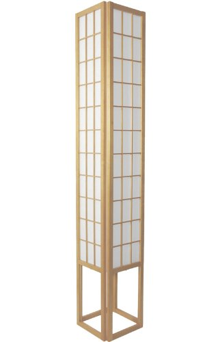 Zen Meditation Simple Décor - 6ft. Japanese Style Wood & Paper Shoji Lantern Oriental Lamp - Natural