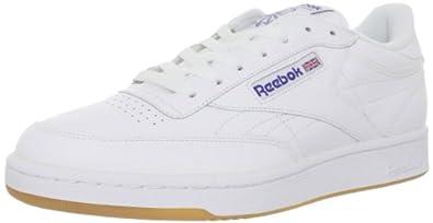 Reebok Men's Club C Gum Fashion Sneaker,White/Royal/Gum,6.5 M US