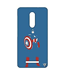 Vogueshell Captain America Printed Symmetry PRO Series Hard Back Case for Xiaomi Redmi Note 3