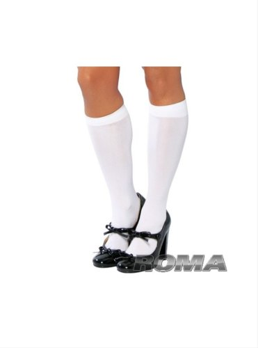 White Knee High Stockings - Adult Std.