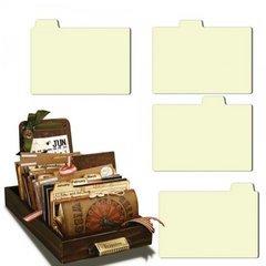 7gypsies 24-Piece Librarie Drawer, Naked Tabs