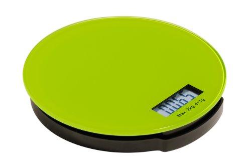 Premier Housewares 0807247 Zing Balance de Cuisine Électronique en Verre Base ABS Vert 2 kg