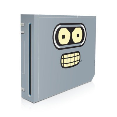 Bender Face Design Skin Decal Sticker For Nintendo Wii Body Console front-512048