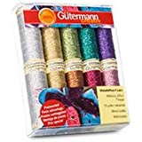 Gutermann 10 x 50 m 70 Percent Polyamid/30 Percent Polyester Thread Pack, Metallic Effect