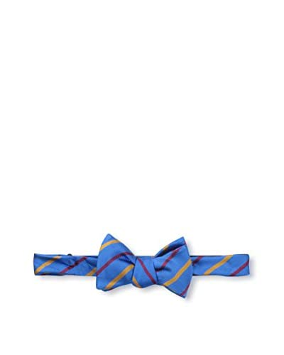 Bruno Piattelli Men's Classic Stripe Bow Tie, Blue