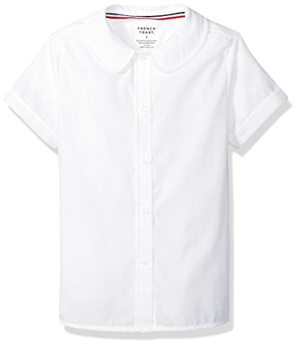 French Toast Girls' Little Girls' Short Sleeve Peter Pan Collar Blouse, White, 5 (Peter Pan Backpack compare prices)