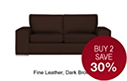 Finn (No Dock) Medium Sofa - Leather