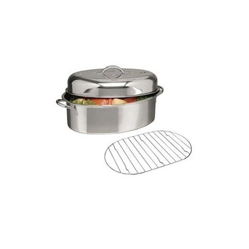 GIBSON GH 16 Oval Roaster w Lid Rack / 64207.02 / (Roaster Pan Lid compare prices)