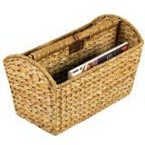 Household Essentials Wicker Magazine Rack, Natural