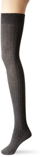 Capezio New York Women's Rib Opaque Thigh High Sock