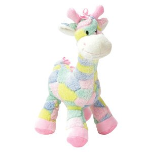 "SO Cute! - PASTEL 13"" Plush GIRAFFE RATTLE for BABY/Crib TOY/Infant GIFT/BABY SHOWER Gift BOY or GIRL"
