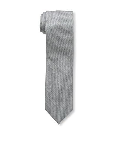 Bruno Piattelli Men's Slim Textured Tie, Gray